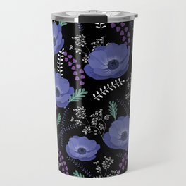 Anemones I: cold in circle Travel Mug