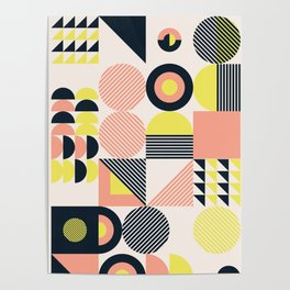 Retro Mod Geometric Poster