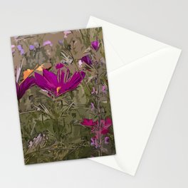 Wild Flowerbed 3 Stationery Cards