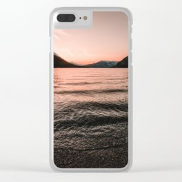 Sunset at the Mountain Lake - Nature Photography Clear iPhone Case