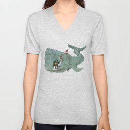 Party whale Unisex V-Neck