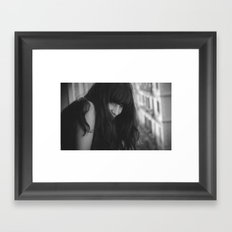 Love from Paris b/n Framed Art Print