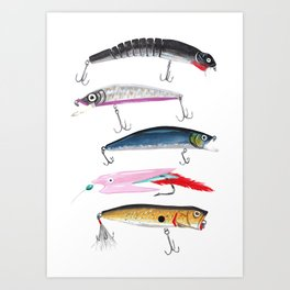 Fishing Lures Art Print