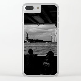 Liberty w/ Sailboat Clear iPhone Case