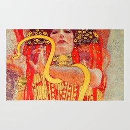 "Gustav Klimt ""University of Vienna Ceiling Paintings (Medicine), detail showing Hygieia"" Rug"