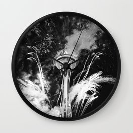 Seattle Space Needle Celebration Wall Clock