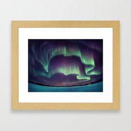 Northern Lights Dragon Framed Art Print