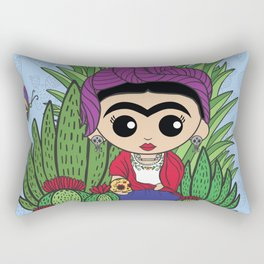 Frida in the Cacti 1 Rectangular Pillow