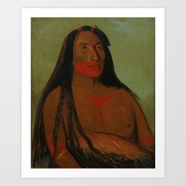 Four Bears, Second Chief in Mourning Art Print