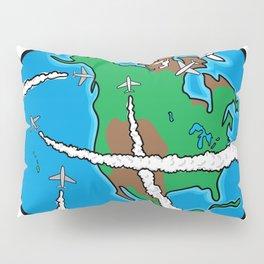 Jets Circling the Globe Pillow Sham