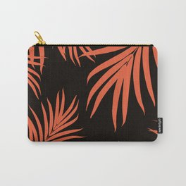 Palm Leaves Pattern Orange Vibes #1 #tropical #decor #art #society6 Carry-All Pouch