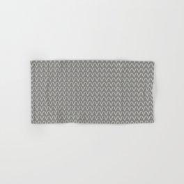 Chevron V Shapes Horizontal Lines Benjamin Moore 2019 Color of the Year Metropolitan Light Gray AF-6 Hand & Bath Towel