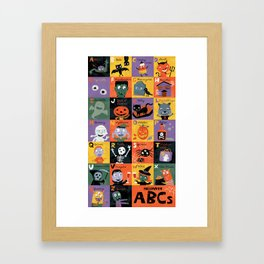Halloween ABCs Framed Art Print
