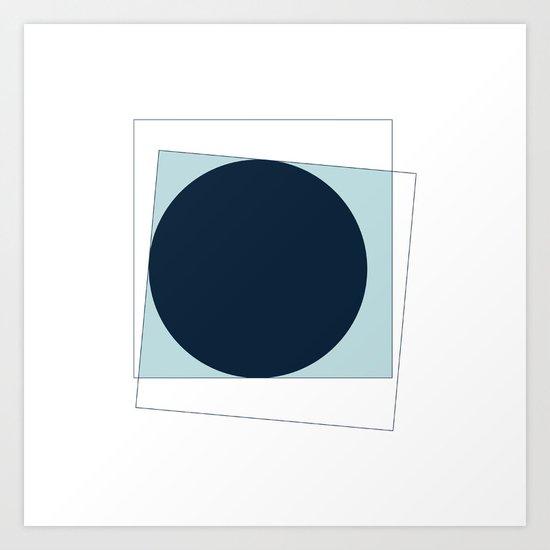 #368 New moon – Geometry Daily Art Print