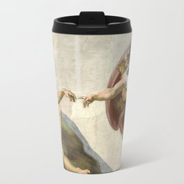 Creation of Adam - Painted by Michelangelo Travel Mug