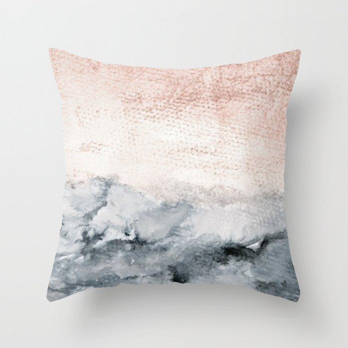 pastel landscape Throw Pillow
