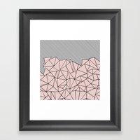 Ab Lines 45 Dogwood Framed Art Print