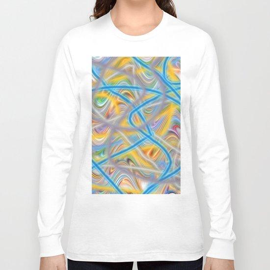 Satin Waves Long Sleeve T-shirt