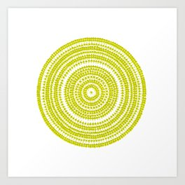 Lime green dot art painting Art Print