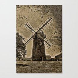 Horsey windpump sepia Canvas Print