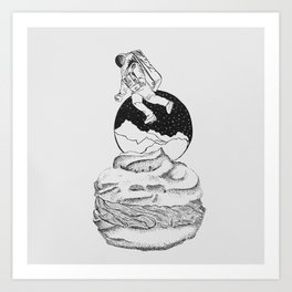 Light and Puffy as a Cream Puff Art Print