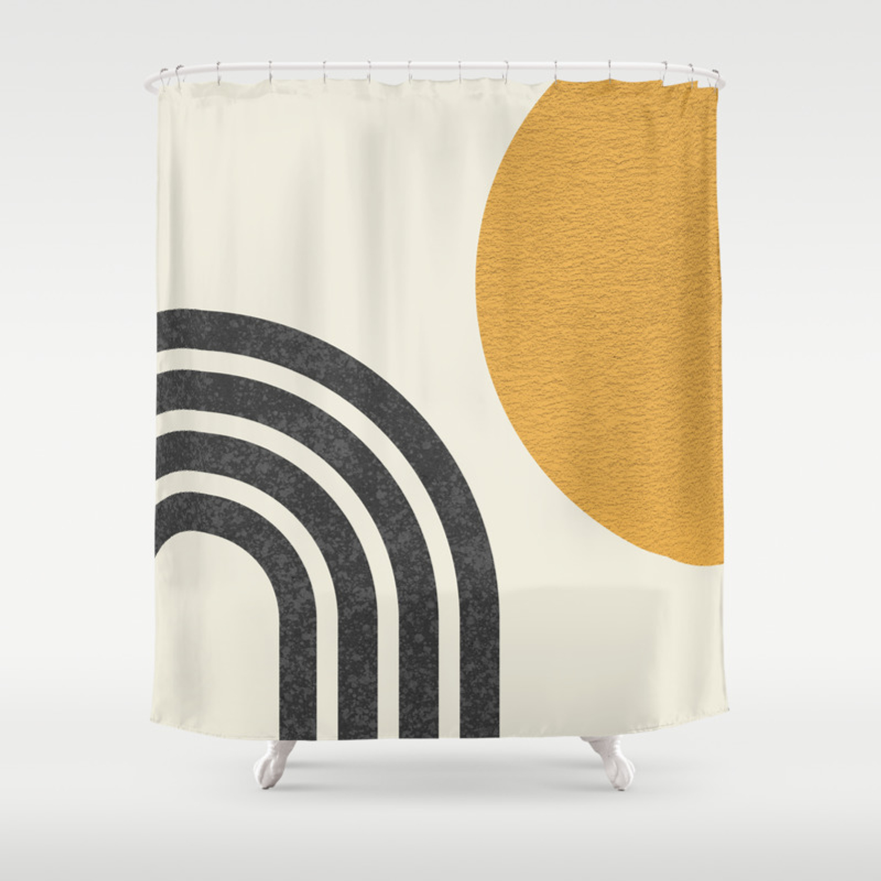 Image of: Mid Century Modern Sun Rainbow Shower Curtain By Moonlightprint Society6