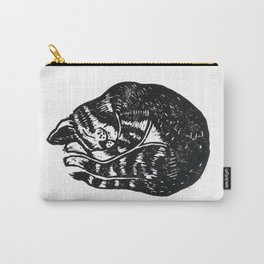 Sleeping Cat - Lino Carry-All Pouch