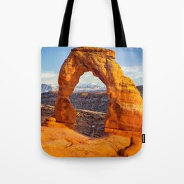 DELICATE ARCH SUNSET ARCHES NATIONAL PARK MOAB UTAH Tote Bag