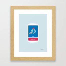 Atlanta Baseball Ticket (9 of 30) Framed Art Print