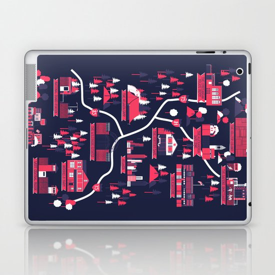 The Survivors Map (dark edition) Laptop & iPad Skin