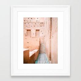 Colors of Marrakech Morocco - El badi palace photo print | Pastel travel photography art Framed Art Print