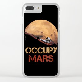 Occupy Mars Spacex Clear iPhone Case