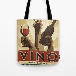 Vintage Vino Italiano - Italian Wine - Saluti - Advertisement Poster Tote Bag