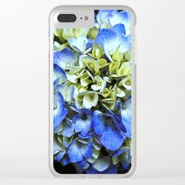 Hydrangea on Black Clear iPhone Case