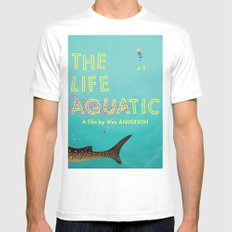 The Life Aquatic Mens Fitted Tee White SMALL