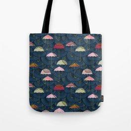 Rainclouds and Umbrellas Tote Bag