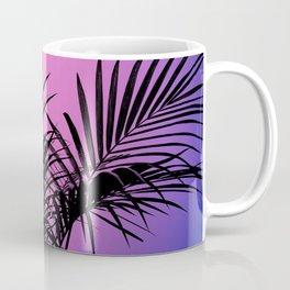 Palm tree in black with purplish gradient Coffee Mug