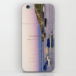 Earth's shadow over the harbor iPhone Skin