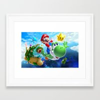 yoshi Framed Art Prints featuring yoshi by Just Be Love