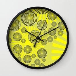 Space Spirals yellow Design Wall Clock