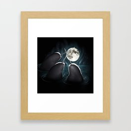 3 Narwhal Moon Framed Art Print