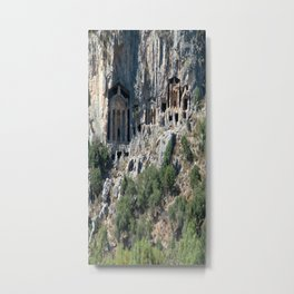 Carved Rock Tombs at Dalyan Metal Print