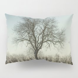 Winter tree in the low sun Pillow Sham