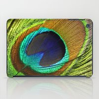 peacock feather iPad Cases featuring peacock feather by mark ashkenazi