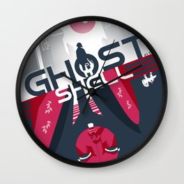 Ghost in the shell Minimalist poster Wall Clock