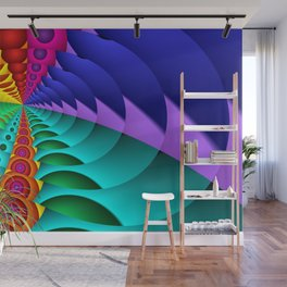 whirls of color -02- Wall Mural