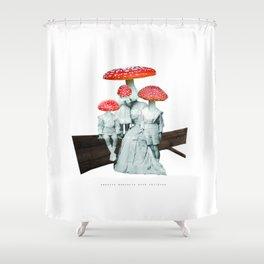 amanita muscaria with children Shower Curtain