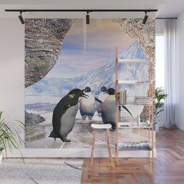 Funny penguin Wall Mural