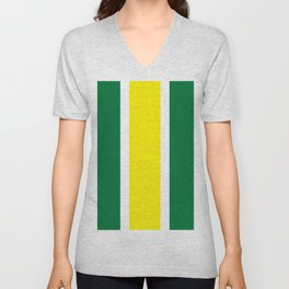 TEAM COLORS 10 ...YELLOW,GREEN Unisex V-Neck