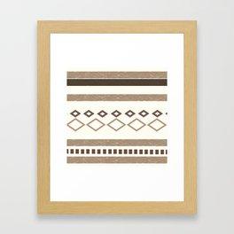 Western Pattern, Out West, Patterns, Brown, Tan, Beige, Shapes, Geometric Western Art Framed Art Print